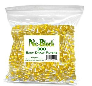 NIC BLOCK 300 Disposable Cigarette Filters Bulk The Most Efficient Filters $11.99