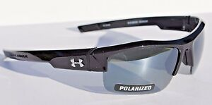 UNDER ARMOUR Igniter POLARIZED Sunglasses Shiny BlackGray NEW $125