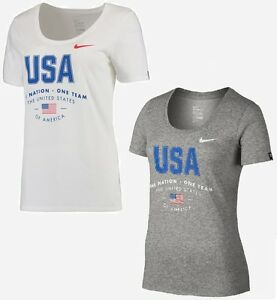 Nike Women's Dri-Fit USA One Nation One Team Short Sleeve T Shirt - NWT