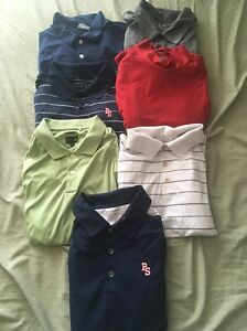 Lot of 7 NIKE GOLF ADIDAS DRI-FIT DRY Mens Large Polo Shirt Navy Short Sleeve