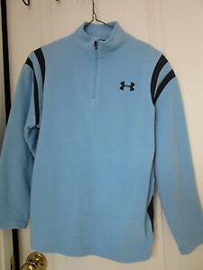 BOY'S Under Armour Fleece Shirt for layering sz Youth M