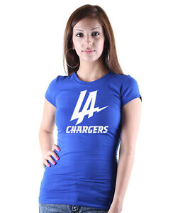 Los Angeles Chargers Graphic Womens Crew Neck Shirt Chargers Football New