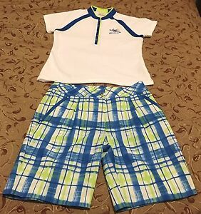 Womens EP PRO GOLF OUTFIT Short Sleeve Shirt Size M & Shorts size 6