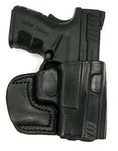 TAGUA BLACK LEATHER RH OWB OPEN TOP BELT SLIDE HOLSTER for 1911 (All Lengths)