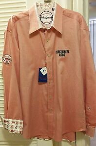 Robert Graham Men's Major League Baseball Cincinnati Reds Shirt 2XL2TG VERYCOOL