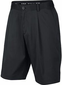 Nike Golf 683059-010 Dri-Fit Black Pleated Golf Shorts Mens Size 33