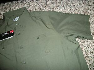 UNDER ARMOUR New NWT Mens XL Dress Shirt Button Up Down Green Loose Fit
