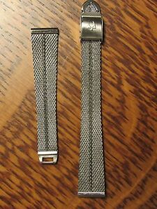 Stainless VINTAGE Bulova ACCUTRON MESH Ladies Watch Bracelet BAND New Old Stock