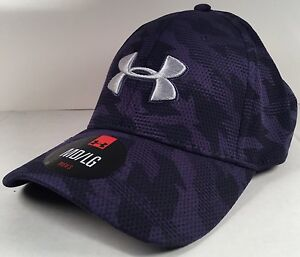 mens under armour hat cap MDLG stretch fit heat gear Polyester nwt Camo