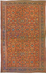 Oversized Antique Persian Sultanabad Rug (size adjusted) BB0946