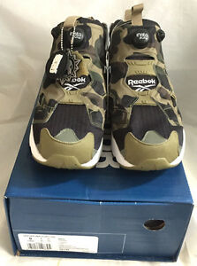 Reebok x Bape A Bathing Ape Camo Insta Pump Fury OG Men Sport Shoes Limited !