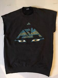 Asia 1983 Japanese Live From Tokyo MTV Sleeveless Sweat Muscle Shirt Size Large
