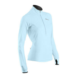 Sugoi 2016 Women's Fusion Core Zip Long Sleeve Thermal Running Top - 60036F (Ice
