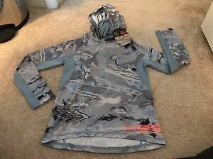 NWT UNDER ARMOUR RIDGE REAPER CAMO HOODIE SIZE Small YOUTH Girls Grey