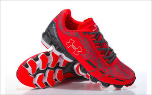 Luxury Brand New Under Armour SCORPIO Red Black Shoes 12 US Size Free Shipping