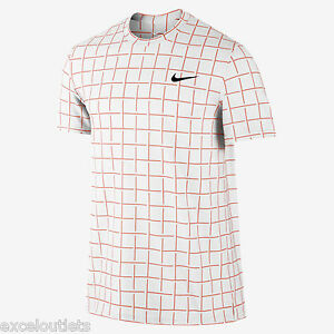 NWT! Nike Sphere Stripe Crew Men's Tennis Shirt Sz M 644782 812 (#3203)