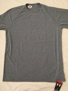 NWT Men's Under Armour Heat Gear Long Sleeve Loose Fit Gray Shirt Size XLTall