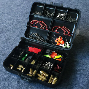 USA 128 Pcs 20 Types Fishing Lures Crankbaits Bait Hooks KIT Fishing Tackle Box