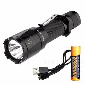 Fenix TK16 1000 Lumen Tactical LED Flashlight w Strobe & USB Rechargeable 18650