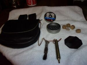 LEATHER BLACK POWDER POSSIBLES BAG ACCESSORIES INCLUDED!HANGS ON BELTMUST SEE