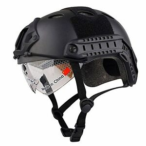 Annong Airsoft SWAT Tactical Helmet Combat Fast PJ Helmet with Protective