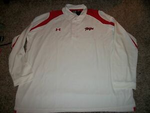 UNDER ARMOUR Maryland Terrapins New NWT Mens Polo Shirt White Loose Fit 3XL 5XL