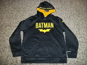 BATMAN UNDER ARMOUR New NWT Youth Kids Boys LARGE Hoodie Jacket Alter Ego Storm