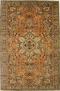 Traditional Design Vintage 7X10 Hand Knotted Wool Rug Oriental Home Decor Carpet
