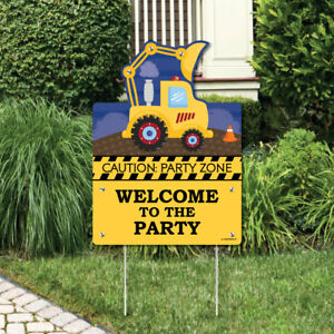 Construction Truck - Birthday Party or Baby Shower Welcome Yard Sign