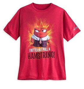Disney Pixar Inside Out Anger Adult Running Shirt Women's Medium Retail $36.95