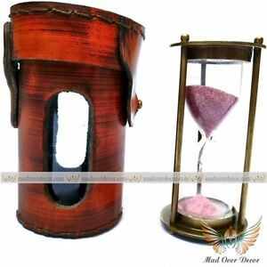 Sand Timer Antique Brass Hourglass Vintage Nautical Maritime Decorative Gift $30.09