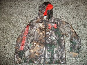UNDER ARMOUR New NWT Boys Youth Camo Camouflage Realtree Hoodie Zip Up Jacket