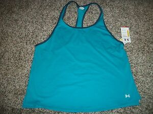 UNDER ARMOUR New NWT Womens XL Shirt Tank Top Blue Loose Fit