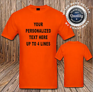 Custom Personalized T Shirt Your Design Your Text Here 16 Shirt Colors SM 6XL