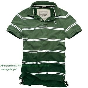 Abercrombie & Fitch vintage stripe polo shirts (muscle fit) size M