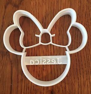 Personalized Minnie Mouse shaped cookie cutter with name or words - US SELLER!!