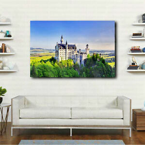 Neuschwanstein Castle Germany Canvas Art Poster Print Home Wall Decor