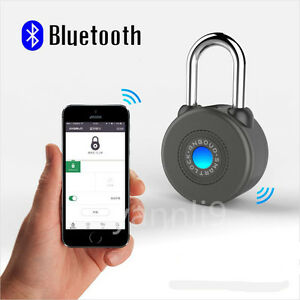 Waterproof Intelligent Phone App Control Smart Bluetooth lock For Bicycle Outdoo