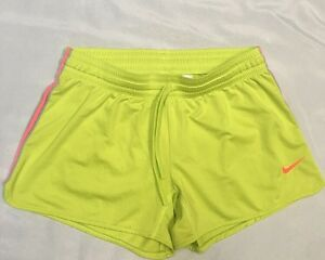 Women's Nike Dri-Fit Neon Green Active Athletic Shorts Size Medium