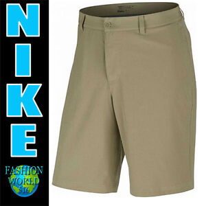 Nike Men's Size 33 FLAT Front Stretch Woven Golf Shorts 725702 235 Khaki Nwt $75