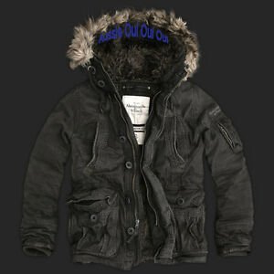 Abercrombie & Fitch faux fur lined Mt Washington Jacket hoodie NWT authentic