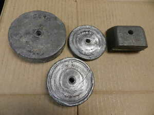 Go Kart racing lead weights or ballastqty of 4 weights totalling 11 lbs 3oz