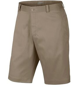 NIKE GOLF FLAT FRONT MEN'S SHORTS KHAKI (725702-235) MULTIPLE SIZES