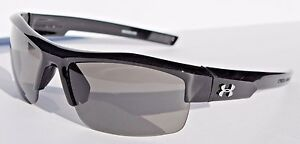 UNDER ARMOUR Igniter Sunglasses Shiny BlackGray NEW SportCycle $80
