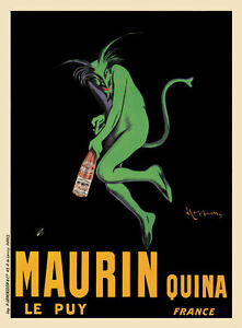 Maurin Quina Vintage French Liquor Advertising Poster