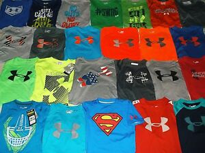 UNDER ARMOUR BOY'S SIZE LARGE 25 SHIRT LOT IN EUC AND A FEW NWT!