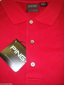 Ping Golf Mens Polo Sport Shirts 11F1787 Red M $40.00