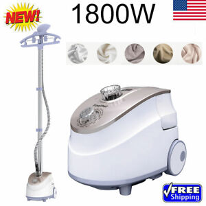 2In1 1800W Heavy Duty Stand Garment Steamer Clothes Iron Fabric Wrinkle 11 Level