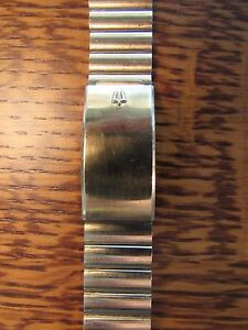 Gold Tone VINTAGE Kreisler ACCUTRON SPACEVIEW Mens Watch Bracelet 1116