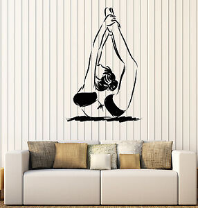 Vinyl Wall Decal Stickers Girl Gymnastics Motion Girl Exercise z4613